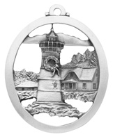 Yuletide Lighthouse Ornament