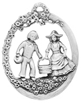 Jack and Jill Pewter Ornament