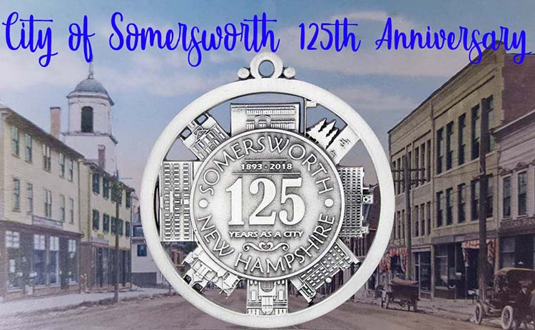 Somersworth 125th Anniversary | Custom Pewter Ornament