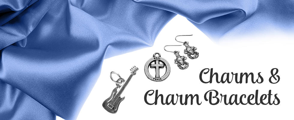 Beautiful pewter charms and charm bracelets
