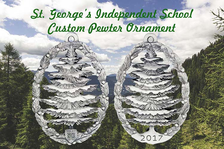 St. George's Independent School | Custom Pewter Ornament