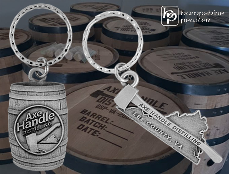 Custom Keychains for Axe Handle Distilling
