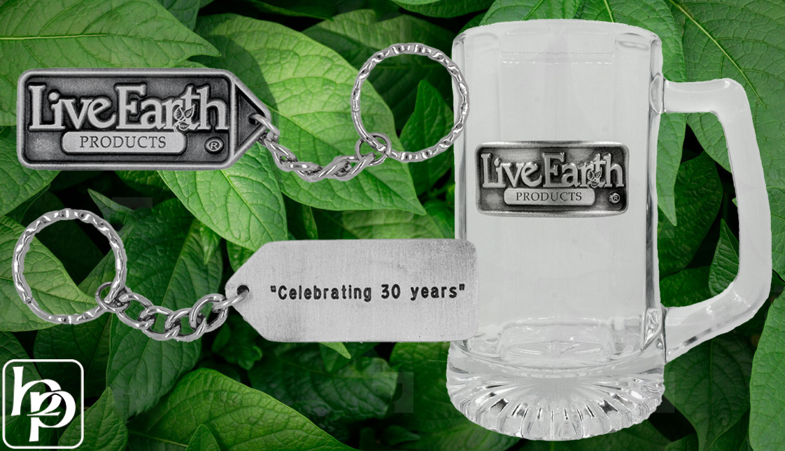 Live Earth Products | Custom Keychain and Beer Mug