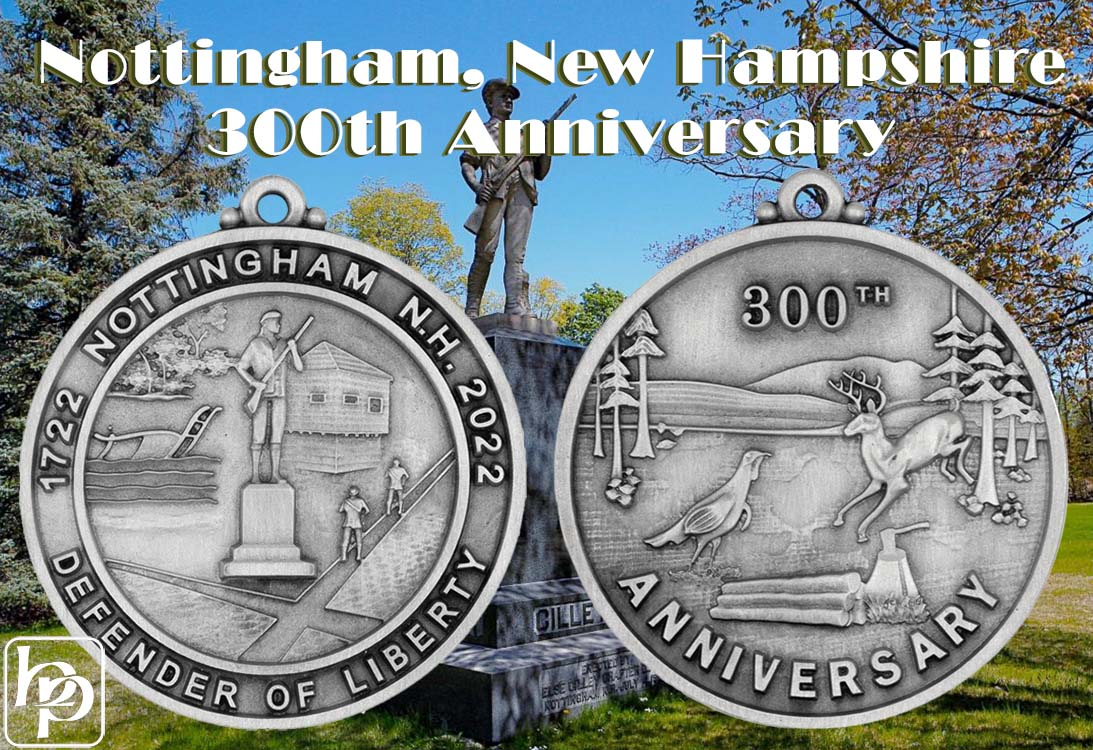 Custom 300th Anniversary Ornament - Nottingham, NH