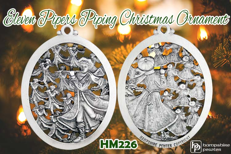 Eleven Pipers Piping -- Our newest 12 Days of Christmas ornament is here!!!