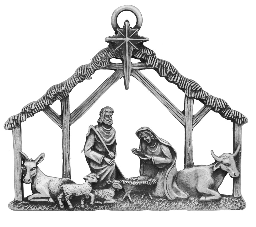 nativity pewter ornament beautifully detailed made in the usa