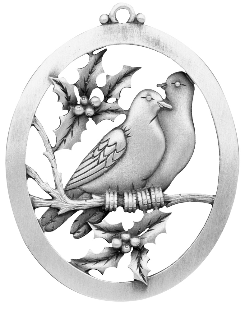 Two Turtle Doves Ornament | Handcrafted New Hampshire