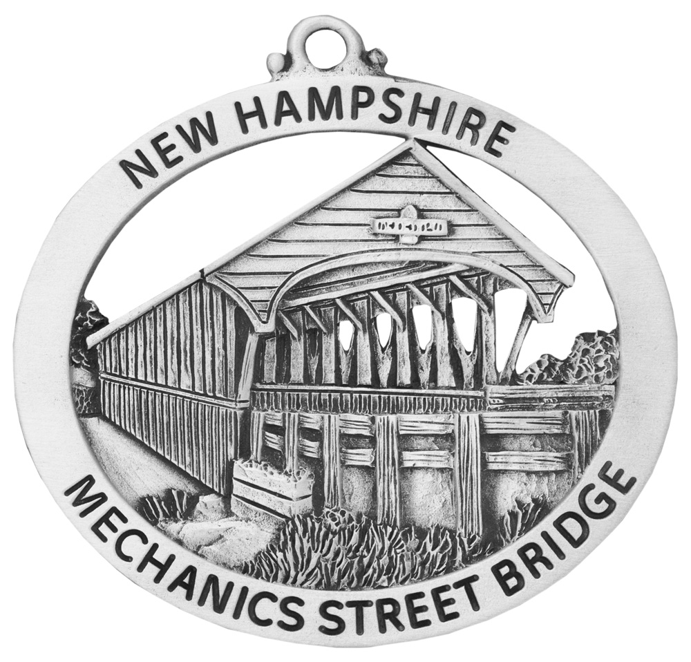 Mechanics Street Covered Bridge Ornament