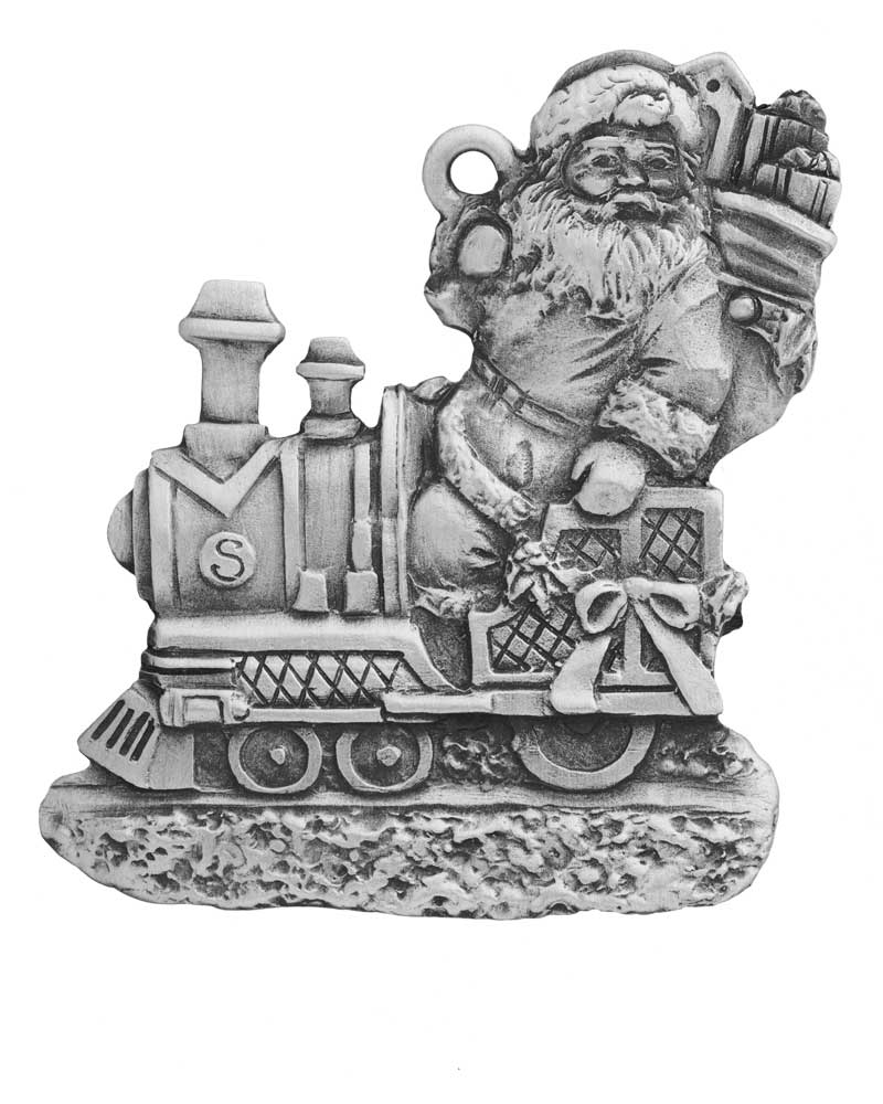 Santa Train Ornament