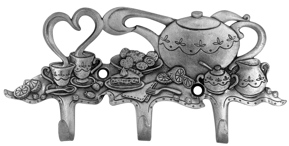 Teapot Design Triple Wall Hook