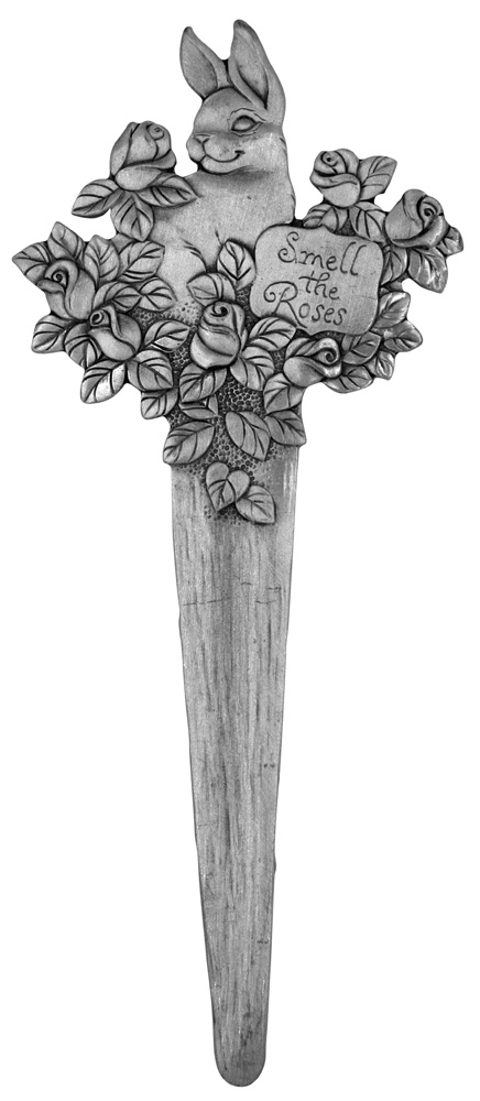 Bunny Roses Garden Plant Stake