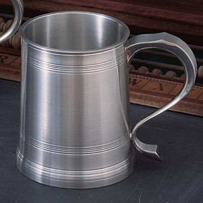 Solid Pewter Beer Mug Stein Tankard 1700 Traditional Design