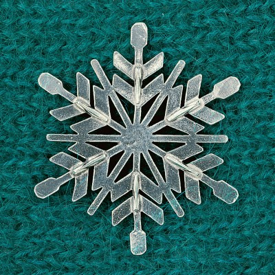 Snowflake Coat Pin