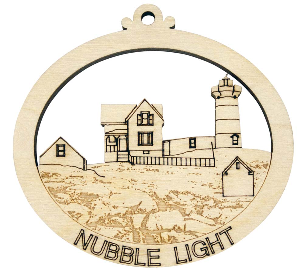 Laser Engraved Nubble Light Christmas Tree Ornament ...