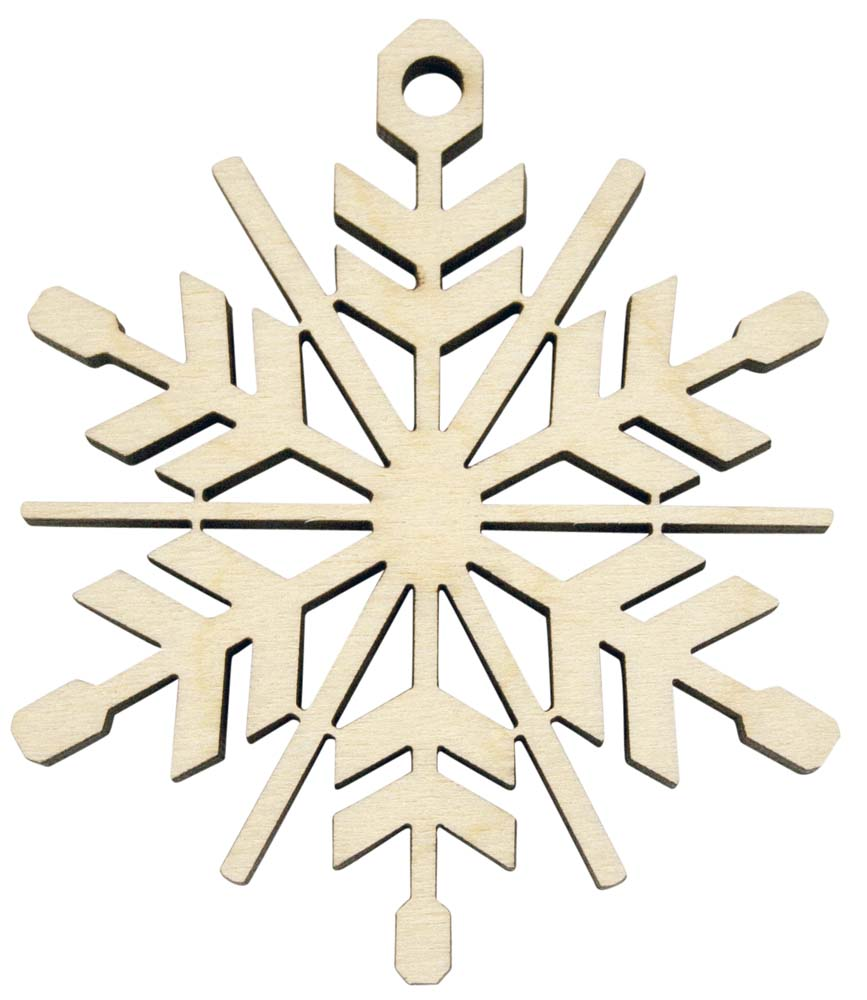 Laser Engraved Snowflake Christmas Tree Ornament | Birch ...