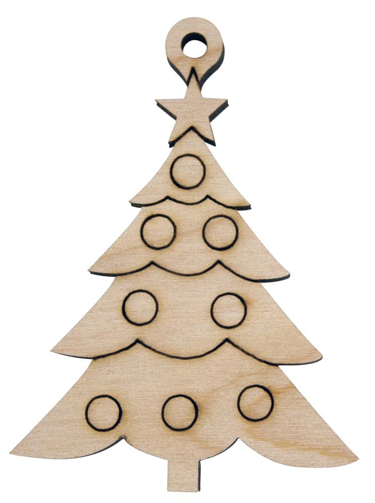 Laser Engraved Christmas Tree Christmas Tree Ornament