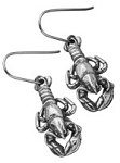 Lobster Charm Earrings