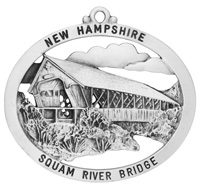 Squam River Covered Bridge Ornament