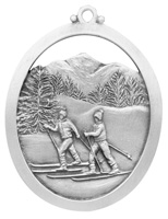 Skiing in New Hampshire Ornament