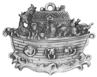 Noah Ark Pewter Ornament
