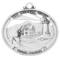 Nubble Lighthouse Pewter Ornament