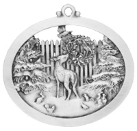 Forest Friends Pewter Ornament
