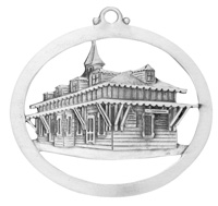 Train Station Ornament