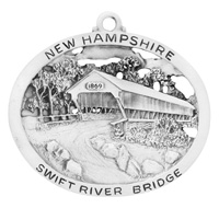 Swift River Covered Bridge Ornament
