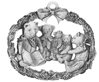 Teddy Bear Storytime Ornament