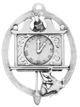 Hickory Dickory Dock Pewter Ornament