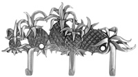 Pineapple Design Triple Wall Hook