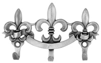 Fleur De Lis Design Triple Wall Hook