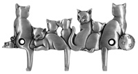 Cat Design Triple Wall Hook