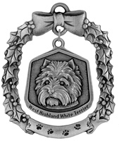 W Highland white terrier Christmas Ornament
