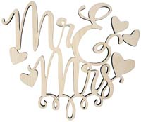 Wedding Cake Topper - Mr & Mrs - Hearts