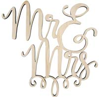 Wedding Cake Topper - Mr & Mrs