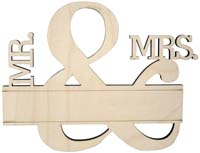 Wedding Cake Topper - Mr & Mrs - Last Name Engraved