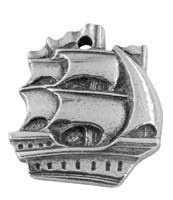 Columbus Day Ship Charm