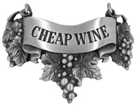 Cheap wine Liquor Label