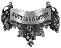 Happy Anniversary Liquor Label