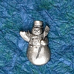 Snowman Hat Lapel Pin