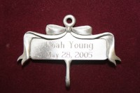 Engravable Bow Hanger - Satin Finish