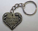 Each Day is a Gift from God Keychain
