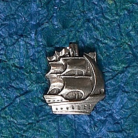 Ship Hat Bag Lapel Pin