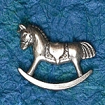 Hobby Horse Hat Bag Lapel Pin