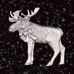 Moose Coat Pin