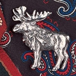 Moose Hat Bag Lapel Pin
