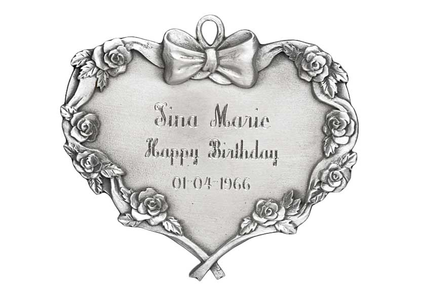 Engravable Heart Ornament