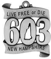 603 New Hampshire Christmas Ornament