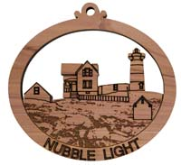 Laser Engraved Nubble Light Cedar Christmas Tree Ornament